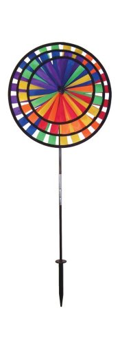 In the Breeze Rainbow Triple Wheel Garden Spinner