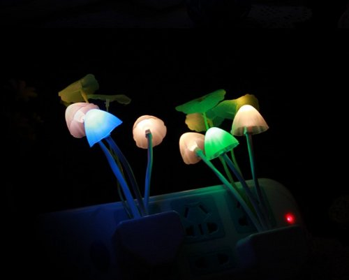 Hkbayi Led Avatar Novelty Modern Sconce Mushroom Lamp Decoration Wall Night Lights Us Plug Gift