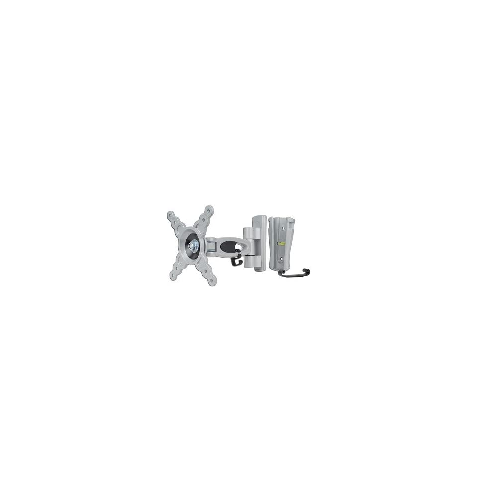 10   24 LCD Monitor/TV Articulating Single Arm Wall Mount Bracket w/Tilt (Gray)