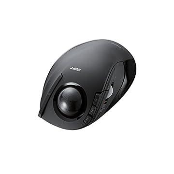 ELECOM ワイヤレス トラックボールマウス 人差し指用 8ボタン チルト機能搭載 ボタン割当て可能 ブラック M-DT2DRBK