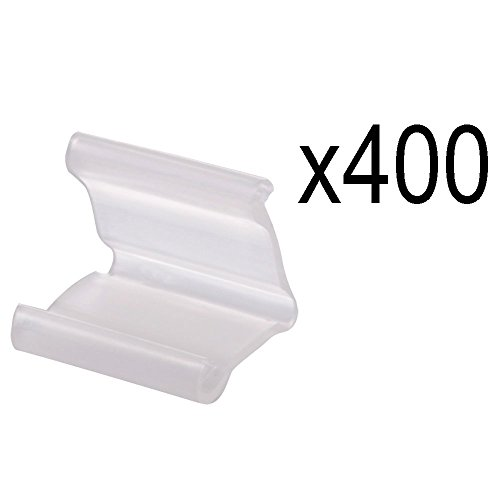 Cosmos ® 400 Pieces of Clear Plastic Small Balloon Clips Tie for Sealing