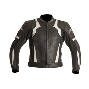 RST BLADE SPORT ROAD RACE MOTORCYCLE MOTORBIKE LEATHER JACKET WHITE 42