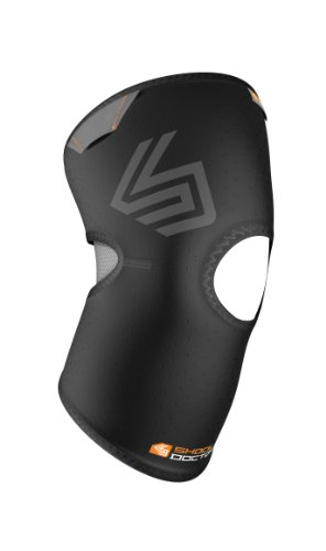 Shock Doctor Knee Compression Sleeve (Black, Large)
