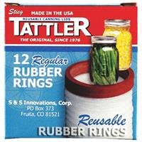 Tattler Rubber Rings 4 Oz Regular Mouth Boxed