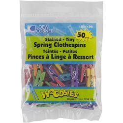 "Bulk Buy: Loew-Cornell Tiny Spring Clothespins 1"" Assorted Colors 50/Pkg 1021198 (6-Pack)"