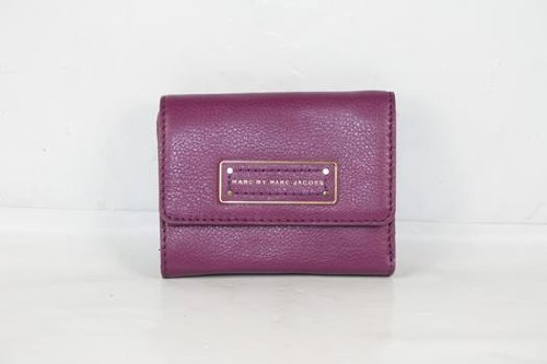 Marc By Marc Jacobs Marc Jacobs Too Hot To Handle Billfold Wallet in Brighter Purple
