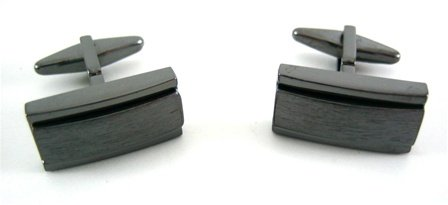 Kenneth Cole Reaction Black Magic Hematite Cufflinks