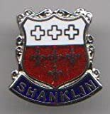 Shanklin - Isle of Wight Town - Crest / Flag Pin Badge