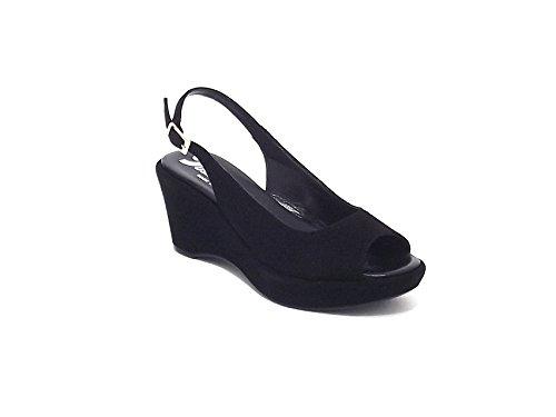 Susimoda scarpa donna, modello sandalo 233395, in camoscio, colore nero