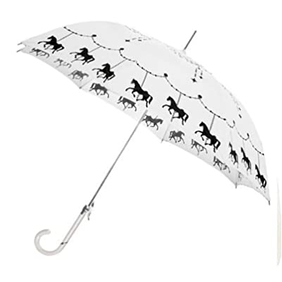 Bombay Duck 'Fairground' Black and White Walking Umbrella