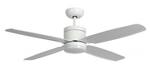 Pepeo, Ventilatore da soffitto a risparmio energetico Turno con illuminazione Led e telecomando, bianco, 132201305