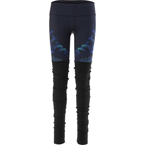 Alo Yoga Gypset Goddess Ribbed Legging - Women's Rich Navy Tropical Feathers, S