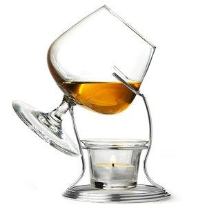 Cognac Brandy Warmer With Glass By Bardrinkstuff Includes Brandy Glass Brandy Warmer Stand Tealight Tealight Holder - Balloon Glass Snifter Glass For Brandy Cognac Armagnac Or Calvados by BAR@drinkstuff