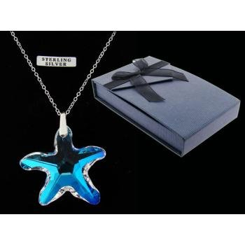 Cab Starfish Pendant On Sterling Silver Chain (3 Pack)