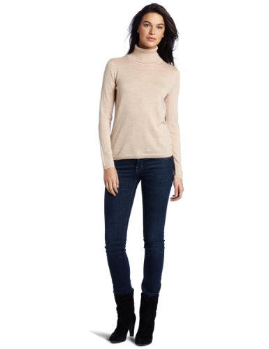 Pendleton Women's Classic Merino Turtleneck, Cameo Heather, Small