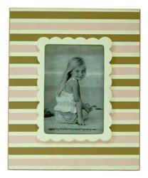 New Arrivals Frame, Pink/Brown Stripe