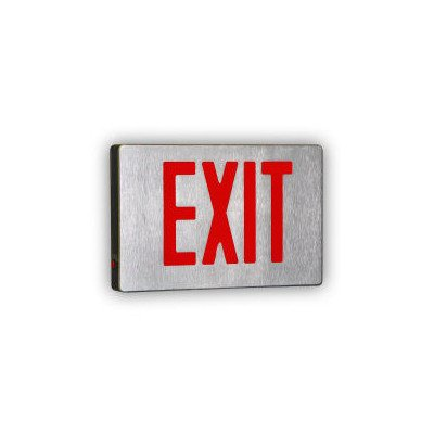 Royal Pacific RXL16GBA Double Face Die-Cast Exit Sign, Brushed Aluminum with Green Letters