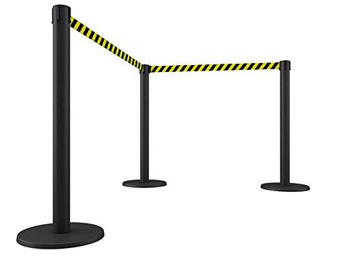 pack-von-10-abgrenzungsstander-schwarz-mit-ausziehbarem-band-amarillo-negra-von-2-metern