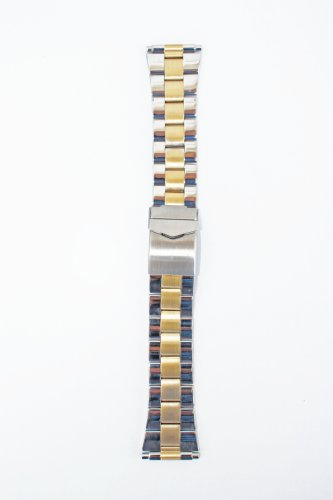 20MM-26MM Oyster Style Two-Tone Replacement Watch Bracelet