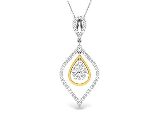 0.58 Cts Sparkles Diamond Pendant in Sterling Silver & Real Diamonds