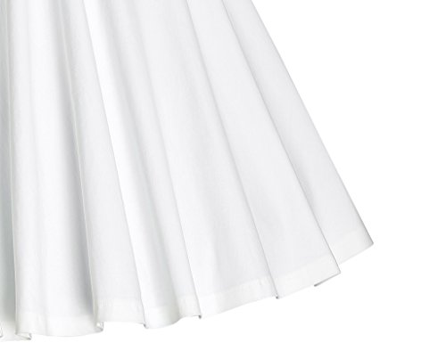 MUXXN Women's Sweetheart Neckline High Waist Rockabilly Cocktail Dress (White M)