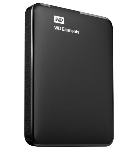 WD 500 GB WD Elements Portable USB 3.0 Hard Drive Storage (WDBUZG5000ABK-NESN)