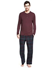 Boxed Autograph Henley Neck Checked Pyjamas