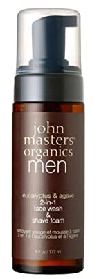 Cheapest John Masters Organics Eucalyptus & Agave 2-in-1 Face Wash & Shave Foam 6 fl oz / 177 ml by John Masters Organics - Free Shipping Available