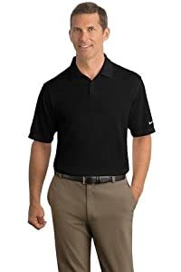 NIKE GOLF Short Sleeve Dri-FIT Pebble Texture Polo Sport Shirt - Black 373749 L