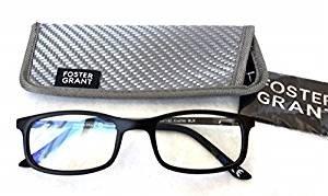 Foster Grant +1.50 Men's Plastic Rectangular E-Reader Reading Glasses(430)