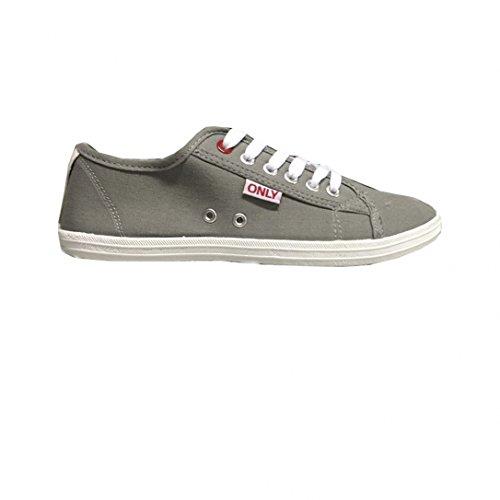 Only scarpe Sneaker Low Top Basic Mocassino Slipper da donna scarpe da ginnastica Grigio chiaro 40