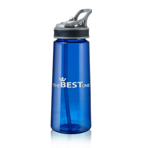Hydrating, Hydration Sports Water Bottle-Wide Mouth-Thumb-Lock-Spill-Proof-Non-Leak-Carry Loop-Dish Washer Safe-Fits Most Cup-Holders- Classic Eastman Tritan 22Oz -Keeps Drinks Polar Ice Cold-Excellent-Sturdy-Best Mobile Hydrating For- Women-Men-Kids. front-25660