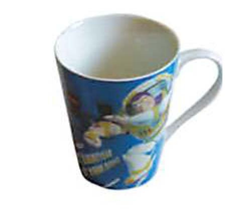 10 oz Porcelain Disney Toy Story Mug - V shape Cup with Handle10 oz Porcelain Disney Toy Story Mug - V shape Cup with Handle