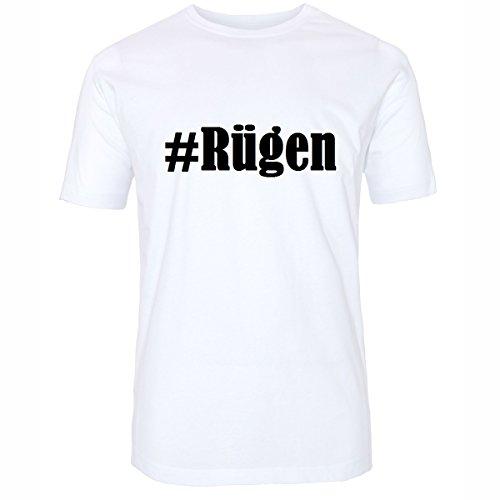 T-Shirt #Rügen Hashtag Raute für Damen Herren und Kinder ... in der Farbe Weiß