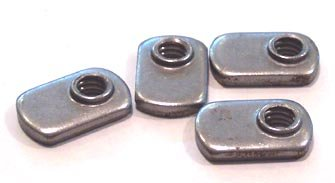 6-32 Tab Weld Nuts / Offset Hole Design / Steel / Plain / 1,000 Pc. Carton