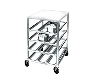 CSR-4MS 72 Can Half Size All Welded Aluminum Mobile Can Rack-CSR-4MS