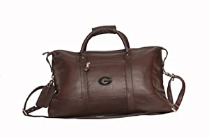 NCAA Georgia Bulldogs Falls Canyon Cabin Leather Duffel Bag by Canyon Outback