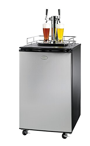 Cheapest Prices! Nostalgia KRS6100SS Full Size Double Tap Stainless Steel Kegorator