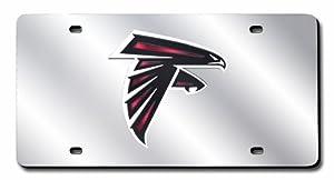 NFL Atlanta Falcons Laser-Cut Auto Tag (Silver)