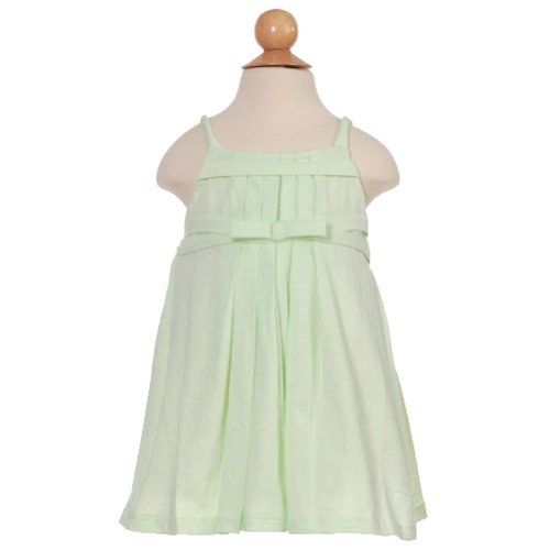 Isobella And Chloe Infant Girls Green Pleated Dress 12M