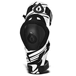 SixSixOne MX-3 Camber White/Black Moto Knee Support by SixSixOne