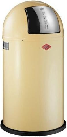 Wesco - Pushboy 50Lt Waste Bin - vanilla-yellow