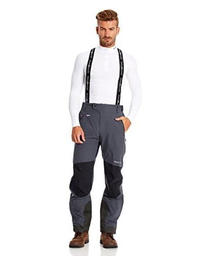 Trangoworld Pantalone con bretelle Vaner [Antracite/Nero]