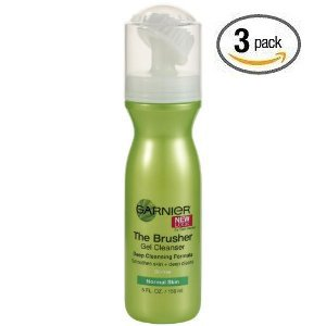 Garnier The Brusher Gel Cleanser Deep Cleansing Formula, 5-Fluid Ounce (Pack of 3)