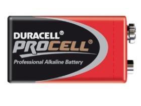 24 x 9 Volt Alkaline Procell Duracell Battery