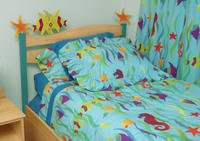 Tropical Sea Headboard - Twin