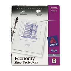 Top-Load Poly Sheet Protectors, Economy Gauge, Letter, Clear
