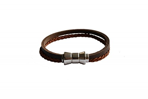 CUERO Unisex Leather Bracelet -Brown