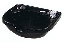 Marble 2000 Black Shampoo Bowl with 550 Faucet Diverter and Vacuum Breaker