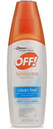 OFF! Skintatsic FamilyCare Insect Repellent Spray, Clean Feel ~ 6 FL Oz (2 Pack)